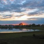 Sunrise over crestlake